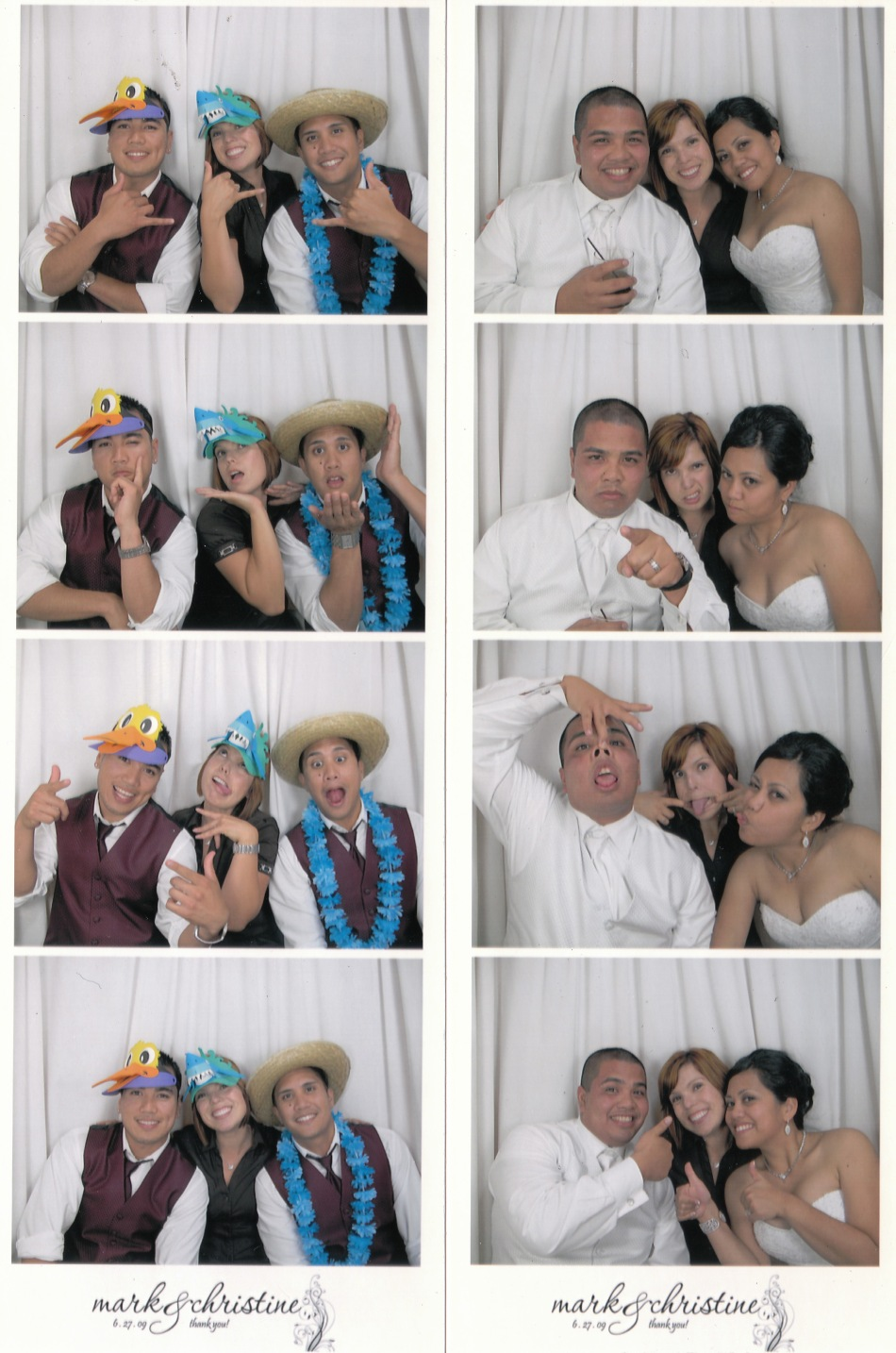 Celebrating with Mark & Christine + Groomsmen!