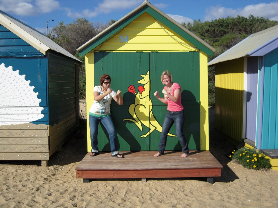 Visiting the Beach Boxes in Brighton... these fancy sheds are own by the rich & almost famous of Melbourne